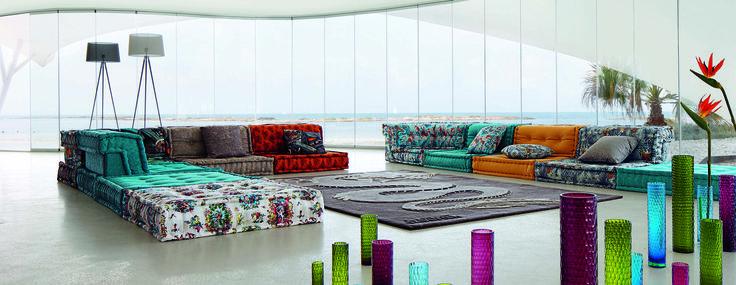 Roche bobois dragon mah jong modular sofa upholstered in for Armoire roche bobois