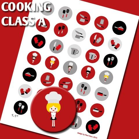 Instant download.. Cooking Class A 02134  by blessedgrafik on Etsy