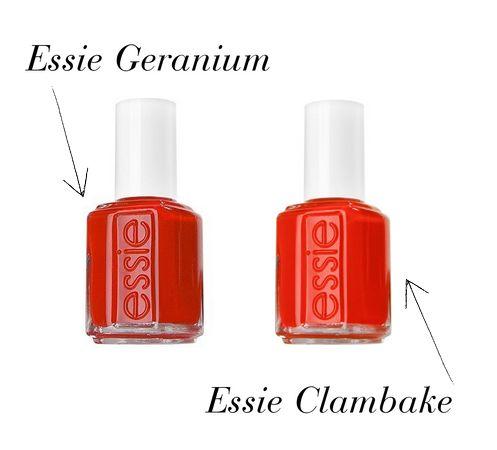 Essie Clambake Essie Geranium ...
