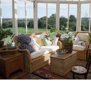 sunroom decor & windows