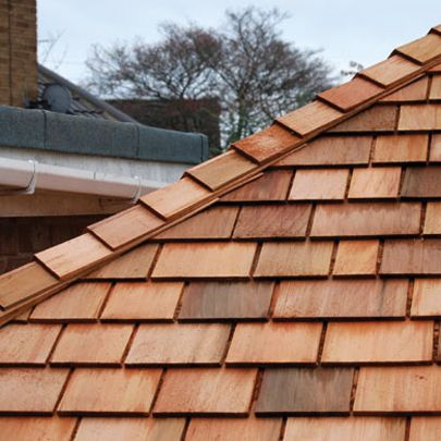 Perfect for extension to replace awful red tiles. Western Red Cedar Shingles
