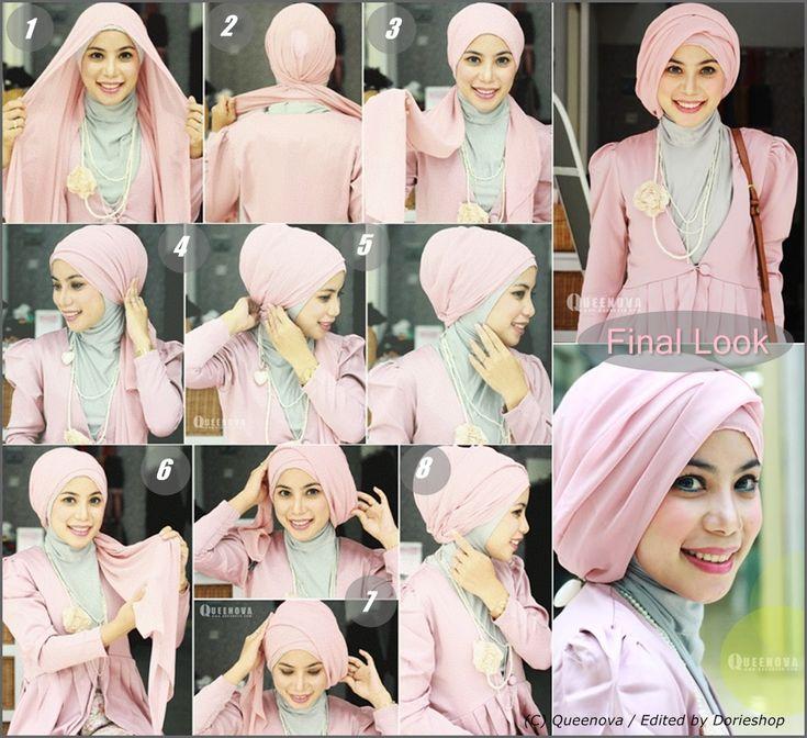 Tutorial Hijab Layering Turban Style