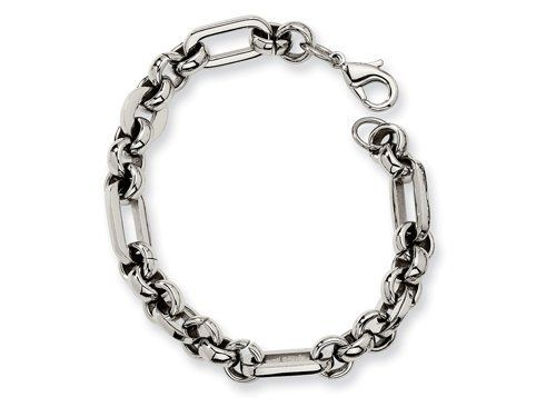 Chisel Stainless Steel Fancy Link Bracelet - 7.5 inches Finejewelers. $26.99. Guaranteed Authentic from the Chisel designer line. Free Chisel Jewelry Packaging