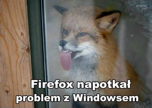 Firefox napotkał problem
