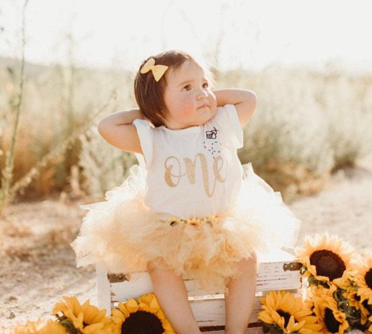 Bee 1st Birthday Outfit Baby Girl First Birthday Outfit