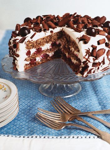 Want. Immediately. Black Forest Cherry Torte #Noms #recipe via @saveurmag