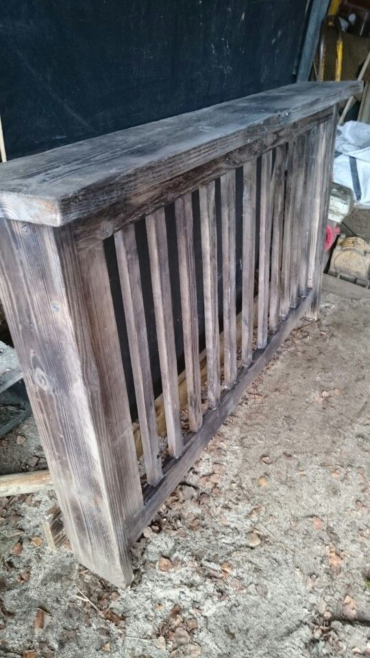 Rustic radiator cover