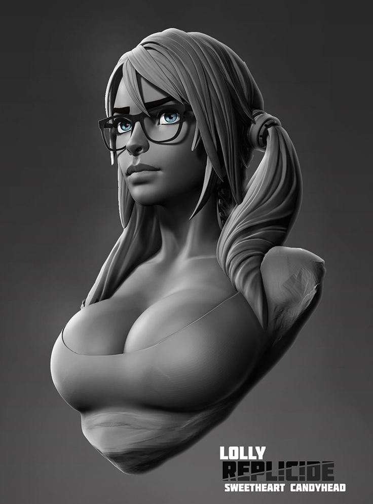 Lolly bust, Boris Dyatlov on ArtStation at https://www.artstation.com/artwork/lolly-bust