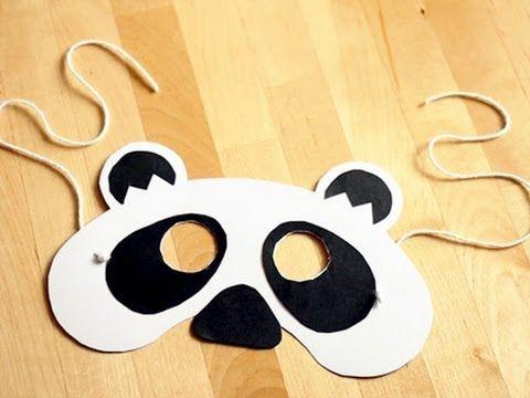 Cómo hacer una máscara de oso panda para Carnaval