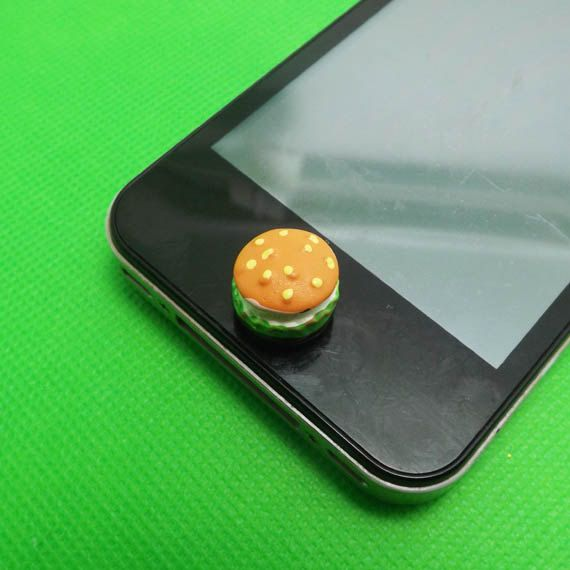 separation shoes 20152 ec29e MCD Vegetables Beef Hamburger Home Button Sticker for iPhone 3,4,4s ...