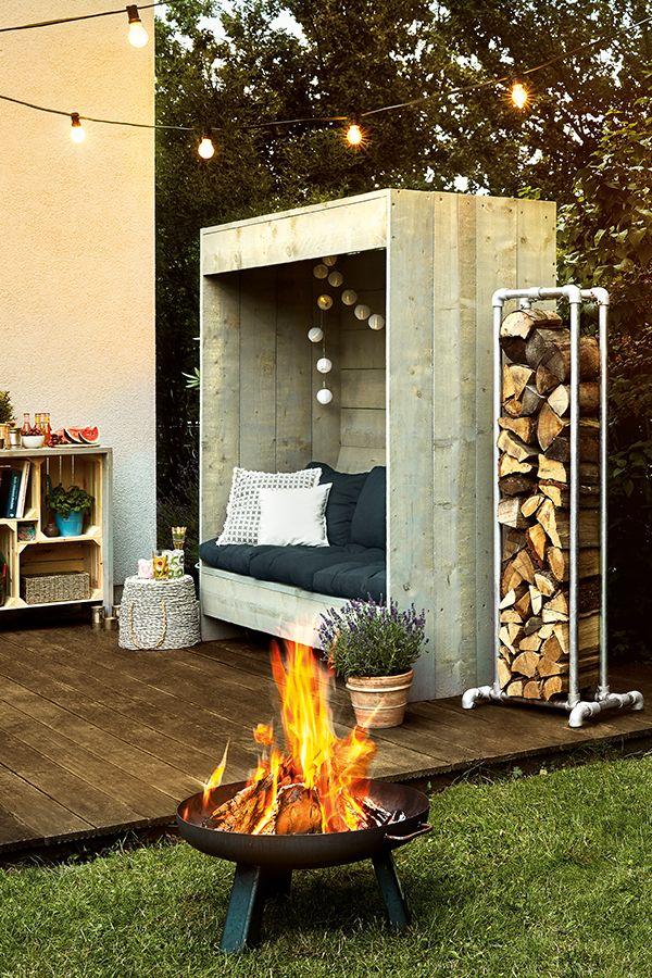 Gartenmöbel-DIY. Was wird Dein nächstes Projekt. Ein Holzlager aus Metall, eine Sitzecke oder ein Regal? Hier findest Du alle Anleitungen. #Garten #…