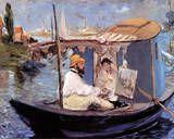 Édouard Manet - Die Barke Speciální digitálně vytištěná reprodukce