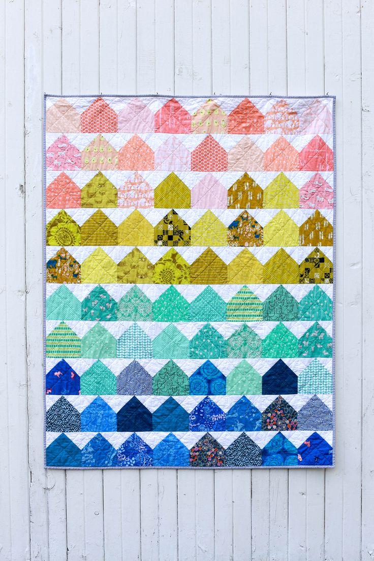 modern house quilt