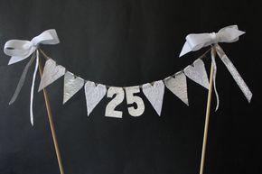 25. Silberne Hochzeit Jahrestag Kuchen Topper Kuchen von SoLuvli