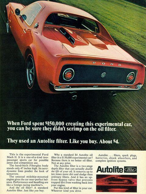 1969 Ford Mach Ii Concept Car Cars Pinterest Ford