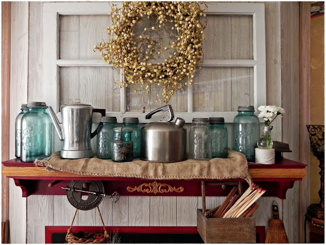 A Southern Belle With Northern Roots Junkflirt Vignette A Day Vintage Jars And Graters Interior Country Decorating