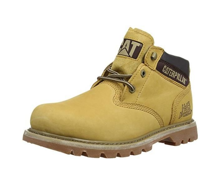 Caterpillar Ealing Mens Mid Lace Up Leather Classic Ankle Boots. Sizes 7-12 available with free shipping! www.shoestationdirect.co.uk