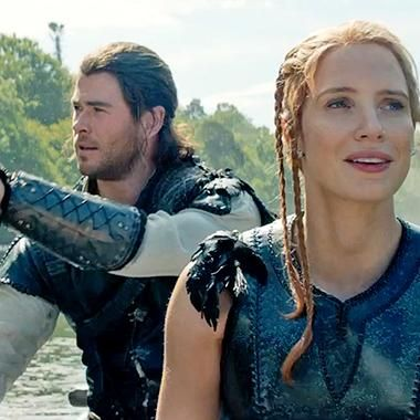 Hot: Jessica Chastain and Chris Hemsworth rock the boat in exclusive The Huntsman: Winters War clip