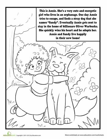 Annie the Musical Coloring Page | Coloring pages, Annie ...