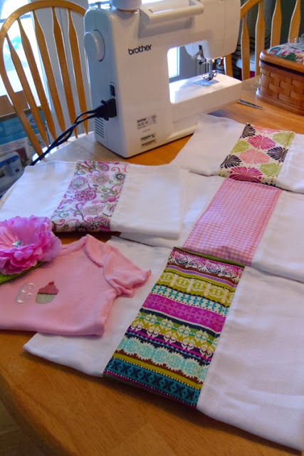 Easy Sewing Projects -- love the burp rags ... I will make some of these for baby gifts!