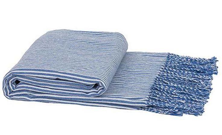 Blue Latitude Throw by Bambury