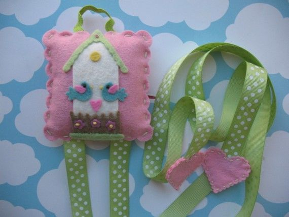 Need to buy this to organize all of Isabella's bows!    Sweet Little Bird House Hair Clip And Bow Holder by bananapies, $14.50