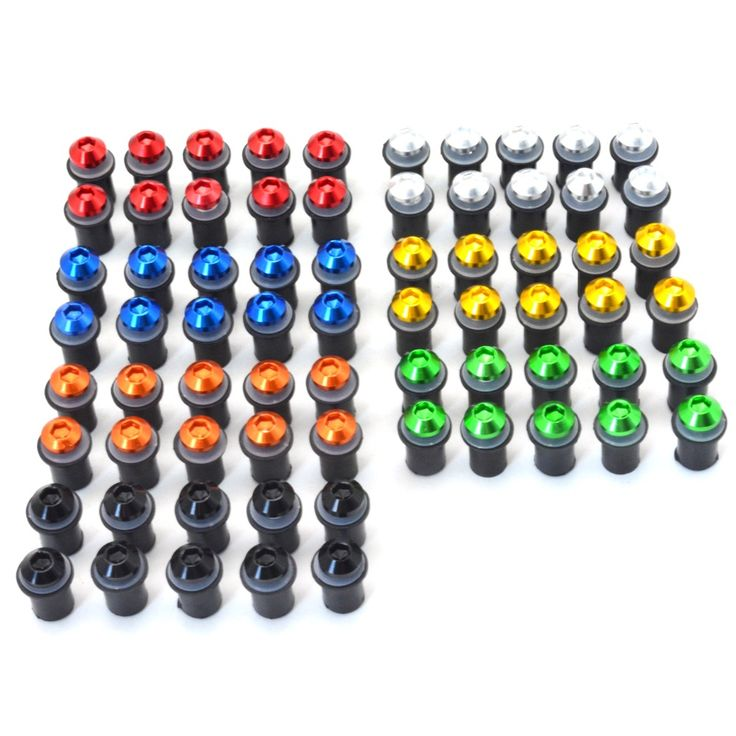 10 pcs m5 CNC universal Windscreen Bolts motorcycle screws and bolts nuts FOR KTM 690 LC4 SUPERMOTO 2007-2009 2008  690 SMS-R 12 #Affiliate