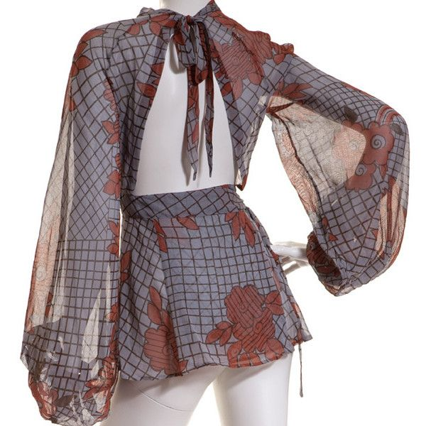 NEW Vintage Ossie Clark Blouse | Celia Birtwell ($1,765) via Polyvore