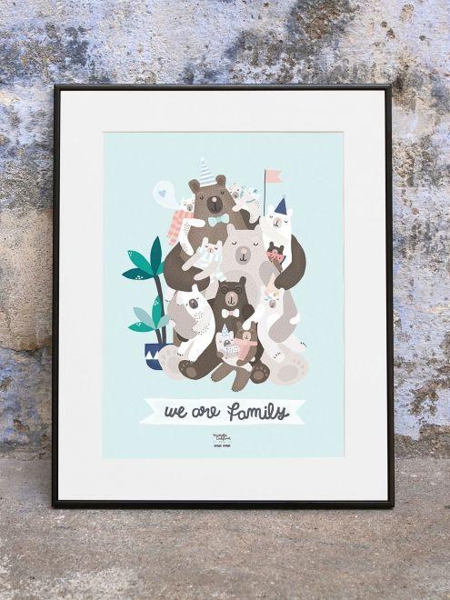 Affiche We are Family - Michelle Carlslund x émoi émoi EMOI EMOI - Photo