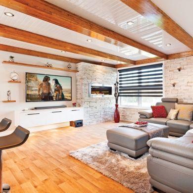 Aire ouverte au sous-sol - Sous-sol - Inspirations - Décoration et rénovation - Pratico Pratique