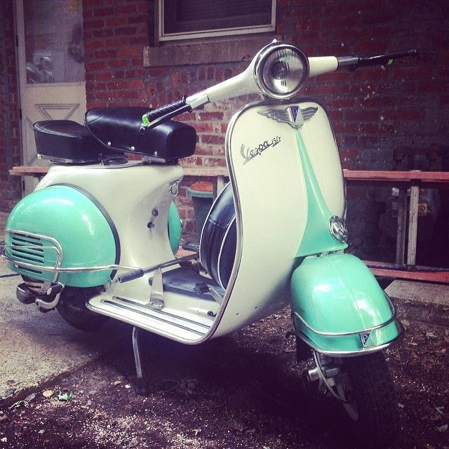 FOR SALE 1962 #vespa 150 fully restored with many extra parts at #madhousemotors asking $4,200 or BEST OFFER contact @jshia or @novamotorcycles for info. #Padgram