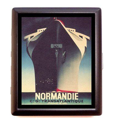 Vintage Art Deco Ad - Normandie Ship