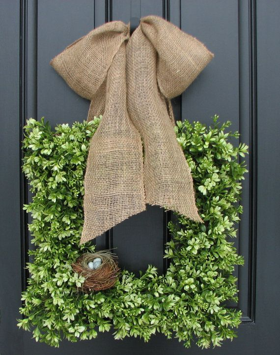Hey, I found this really awesome Etsy listing at http://www.etsy.com/listing/122680200/wreaths-boxwood-wreath-square-wreath