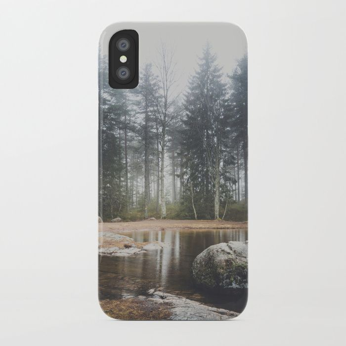 Moody mornings iPhone Case by HappyMelvin. #nature #wanderlust #landscape #forest #phonecases