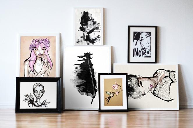 Paintings. Frames. Art. Smäm.