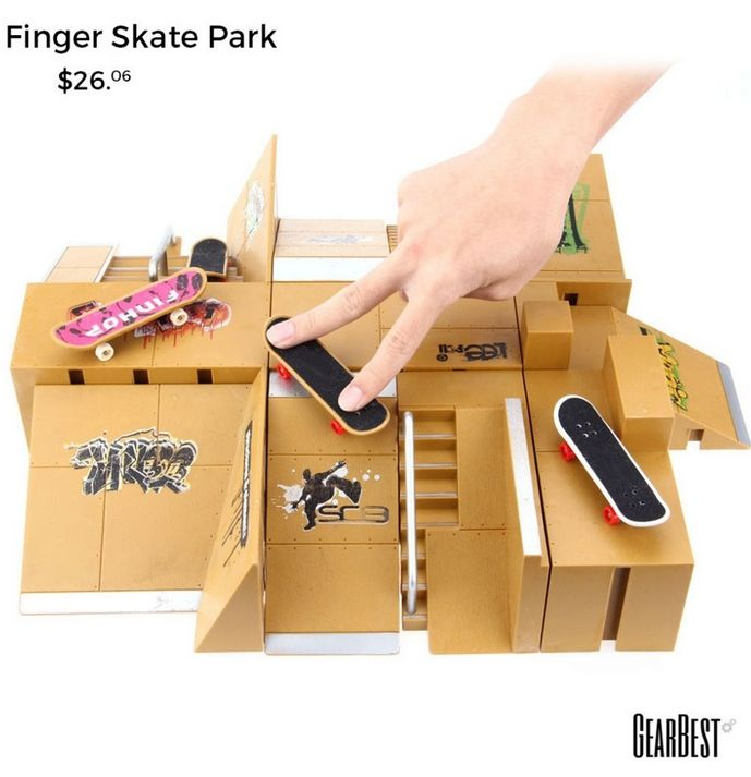 Skate Park Kit for Tech Deck Finger Board, contest with your friends