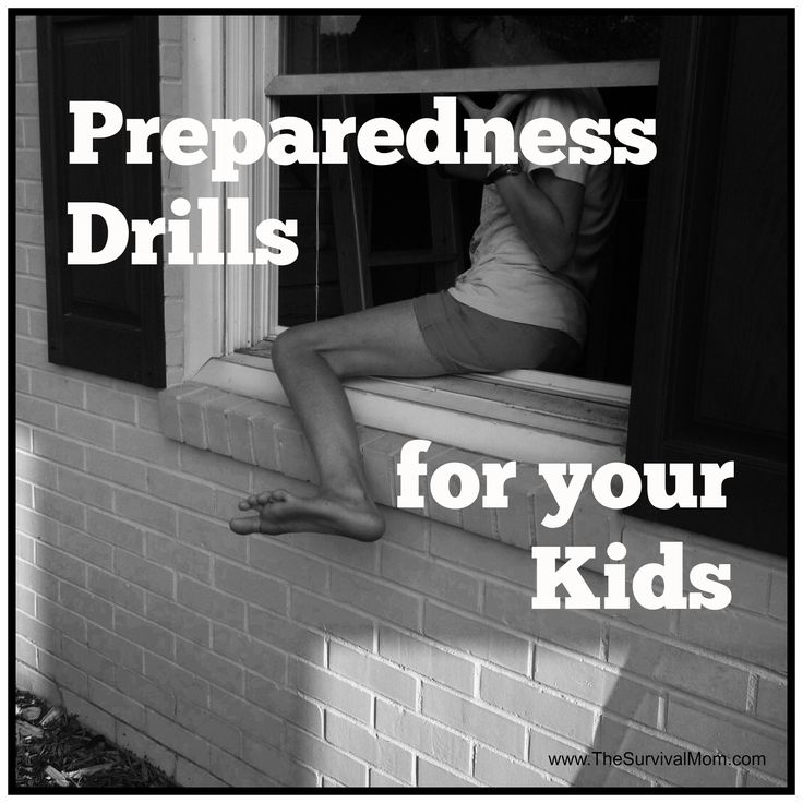 Do your kids know what to do if a fire breaks out at home? How about an active shooter situation or a tornado? Get tips for real-life drills here!   via www.TheSurvivalMom.com