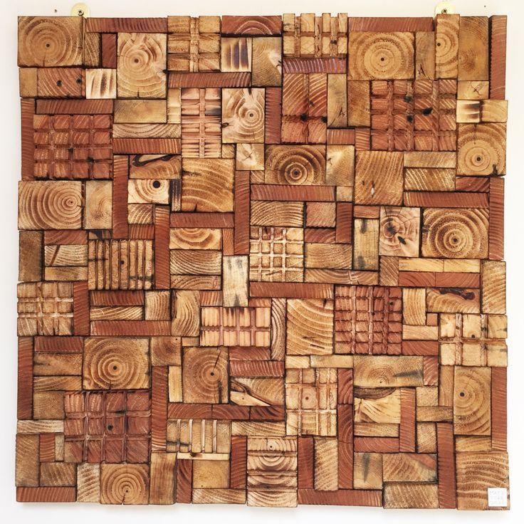 Wood wall art by Delphworx UK. Modern wall decor sculpture.