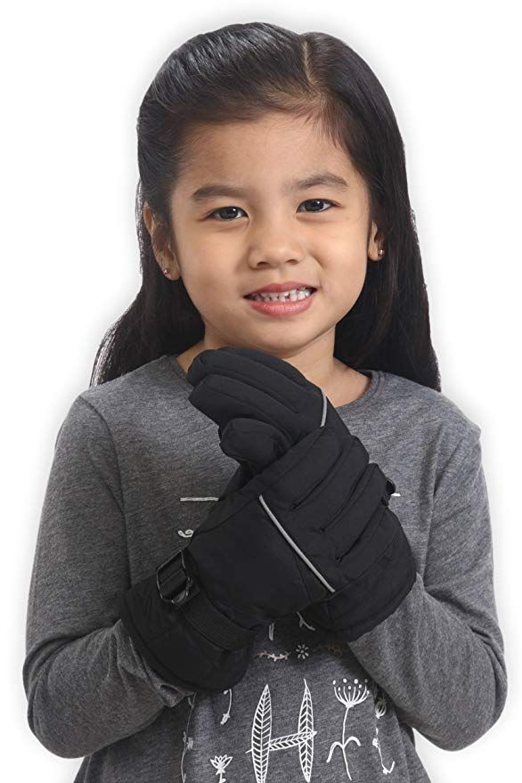 cba99ecbe8a Amazon.com  Kids Winter Snow  amp  Ski Gloves - Youth Gloves Designed for