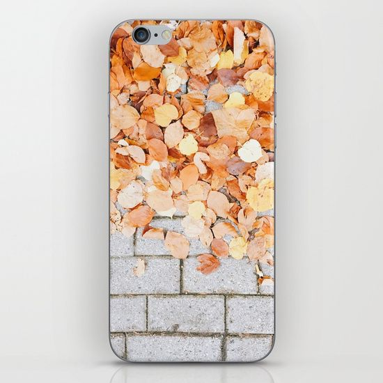 Orange Fall iPhone & iPod Skin  #leaf #leaves #fall #autumn #nature #tree #colours #colors #outdoor #street #photography #orange #autumnleaves #autumnleaf #phonecase #phonecover #phoneskin #iphoncase #galaxycase