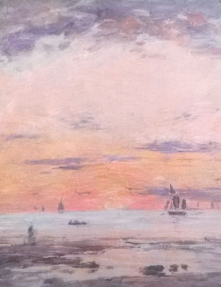 Ebb on sunset | Eugène Boudin [1880–1885]