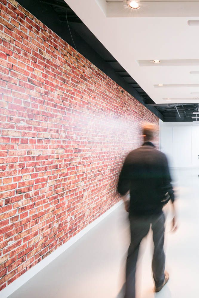 www.vinylimpression.co.uk Brick wall covering mural ...