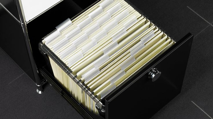Bueromoebel Metall Rollcontainer Schubladenschrank mit Ausziehtuere für Hängemappen und Hängehefter Sideboard mit Metall Ausziehtuere Vollauszug für Hängeregistratur