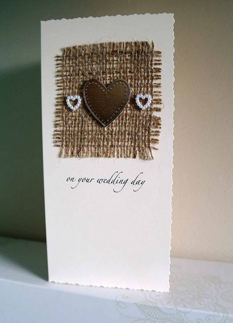 personilised wedding card