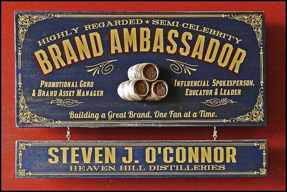 Brand Ambassador Vintage Plank Nameplate Sign by KandKSales