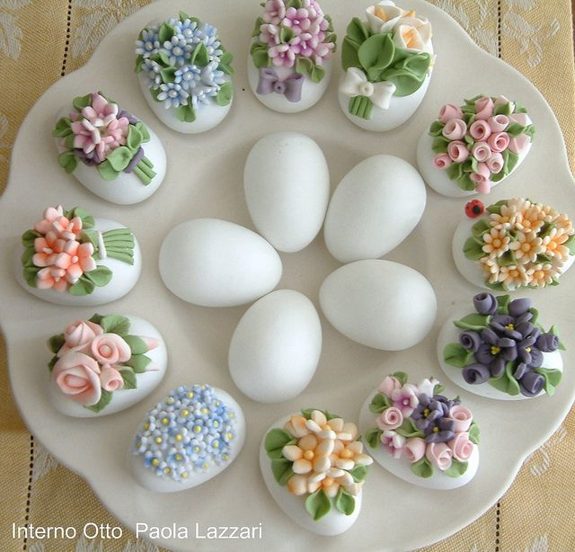 decorated chocolate eggs