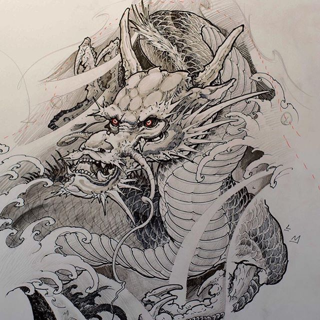 Continuing from the last chapter, @tonyhu_chronicink discusses his techniques of how he shades the Dragon sketch, which he then tattoos as a half sleeve in the final chapter. Chapter 5 consists of 3 sub-chapters. - 5.i - The Background 5.ii - Body and Head Shading 5.iii - Claw and Head Shading - #inkworkshops