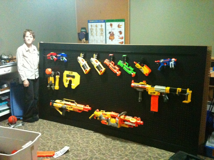 Nerf Gun Rack Organization Is Everything Pinterest