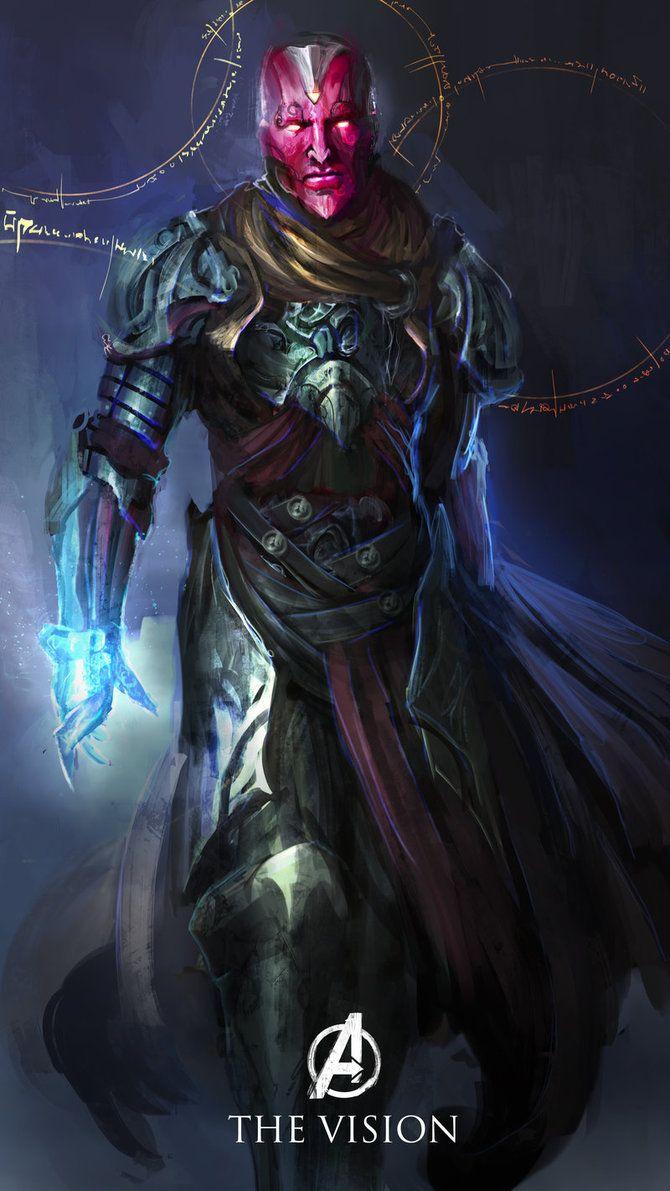 Ilustrações concentuais dos Vingadores, inspirada em personagens de RPG.