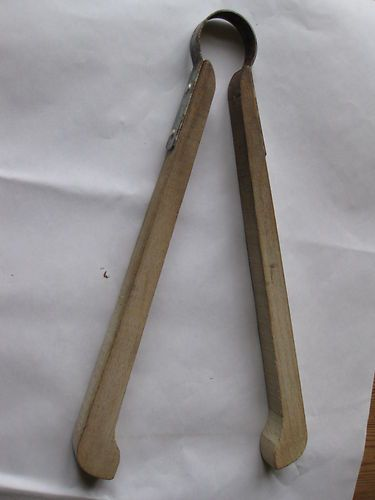 Vintage wooden twin tub tongues - we had these